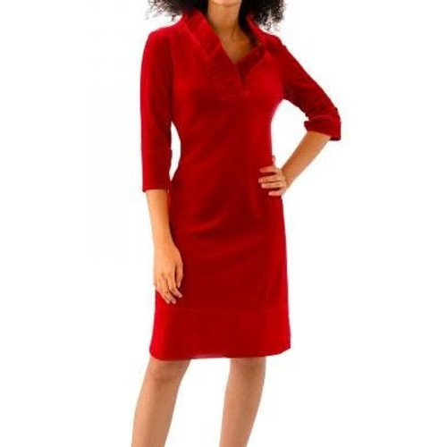Ruffneck Silky Velvet Red Dress