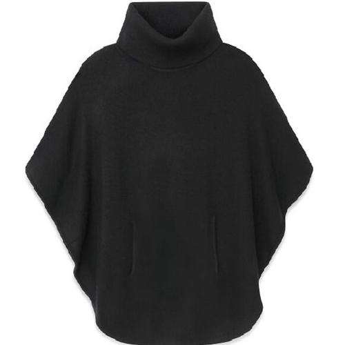 Poncho Black   100% Cashmere
