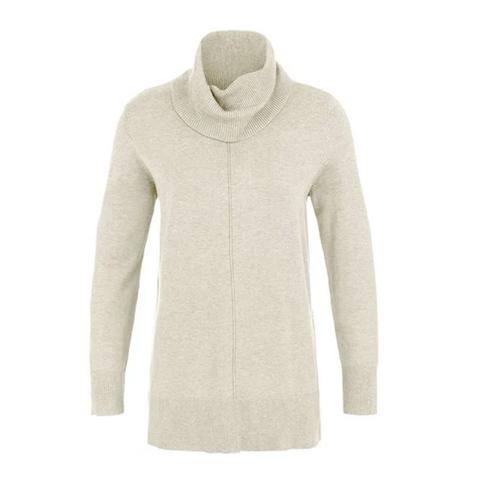 Cowl Neck Sweater   H Raffia