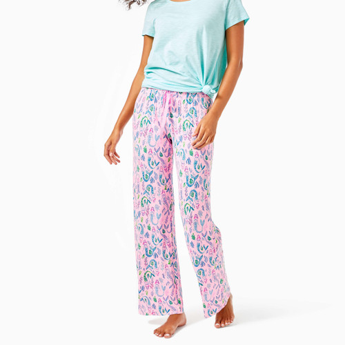 Pj Knit Pant   Pink Blossom    Girls Night Out Cl9
