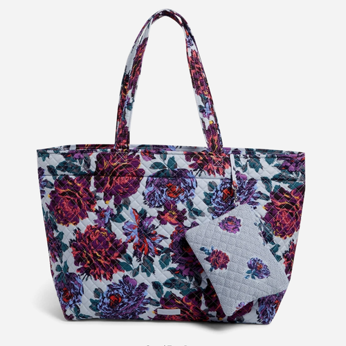 Grand Tote Bag   Neon Blooms