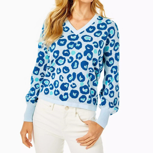 Jasmina Sweater   Skim Blue   Dont Be A Cheetah Sweater