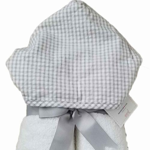 Gray Check Fabric Everykid Towel