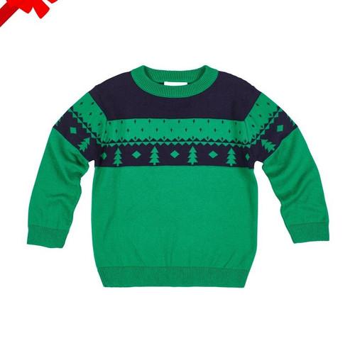 Green Crew Fair Isle Sweater
