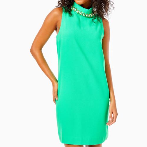 Portia Soft Shift Dress  Juniper Green