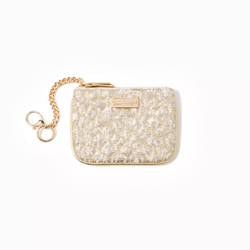 Quilted Louise Key Id    Gold Metallic