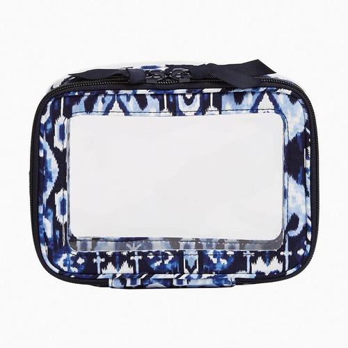 Clear Zip-Around Cosmetic Bag  Ikat Island