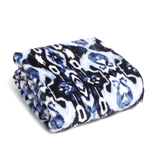 Plush Throw Blanket  Ikat Island