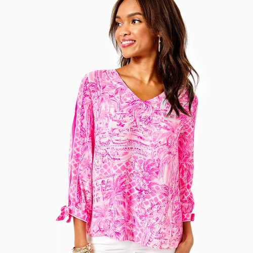 Pamala Top Pink Blossom  Palm Beach Paradise Engineered Top
