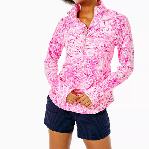 Upf 50+ Skipper Popover Pink Blossom Palm Beach Paradise