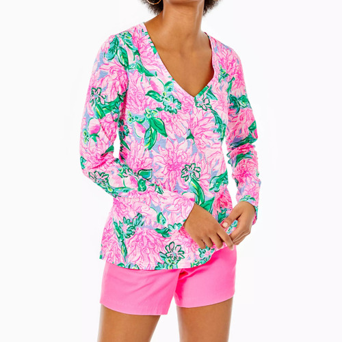 Etta Long Sleeve Top Pink Blossom Try Your Zest