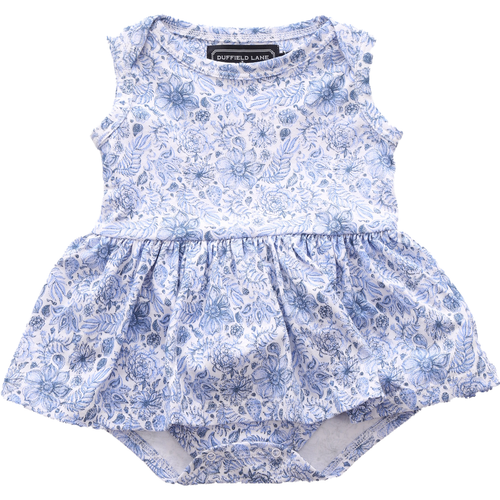 Charlie Infant Dress  Blooming Blue