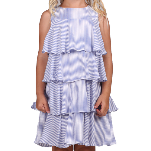 Tessa Dress  Blue Stripe