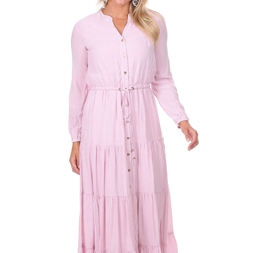 Remy Dress  Pink Stripe
