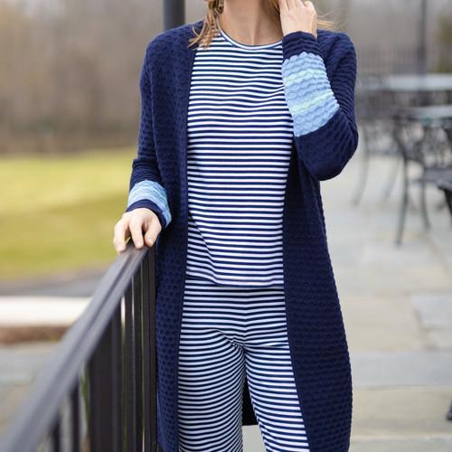 Adult Pajamas Navy/White Stripe