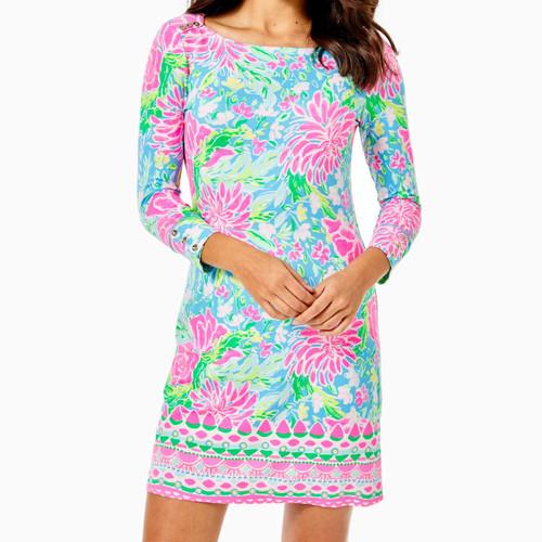 Upf 50+ Sophie Dress Zanzibar Blue Blue Bunny Business Engineered