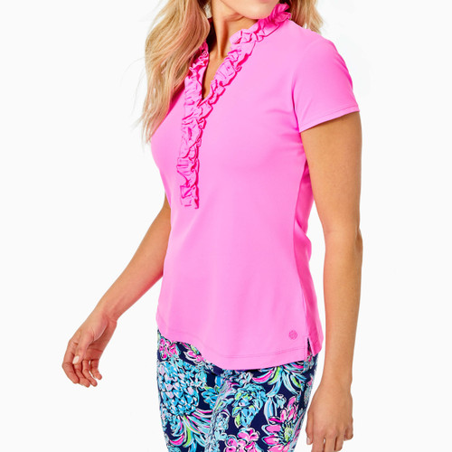 Frida Ruffle Polo UPF 50+ Prosecco Pink