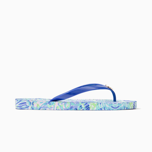 Pool Flip Flop Multi Shell Of A Party Shoe