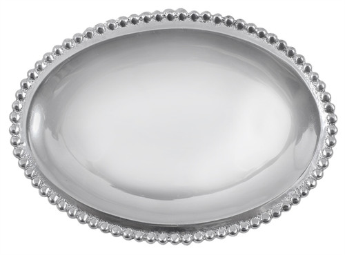 Beaded Oval Statement Tray