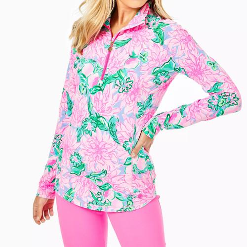 Justine Half Zip Upf 50+ Pink Blossom Try Your Zest