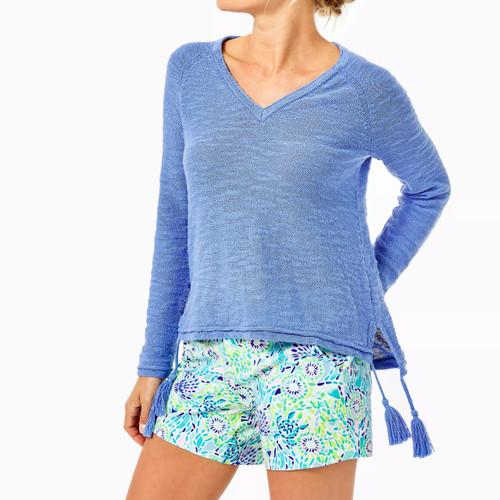 Jody Vneck Sweater Periwinkle Purple