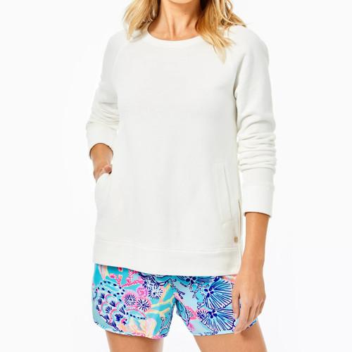 Beach Comber Pullover Resort White