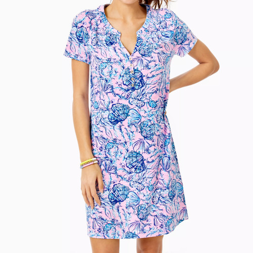 Short Sleeve Essie Dress Magnolia Lilac A Little Jelly