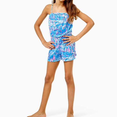 Jaycee Romper Zanzibar Blue Boatylicious Girls