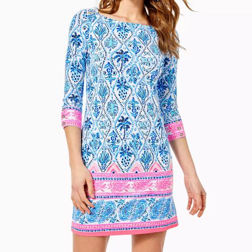 UPF 50+ Sophie Dress Resort White Isle Of Tile Engineered Knit