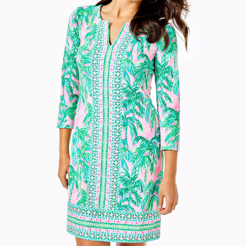 UPF+ Nadine Dress Pink Blossom Suite Views Eng Chilly Lilly
