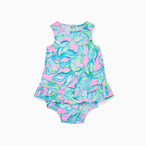 Claudia Infant Dress Pelican Pink Off The Scales