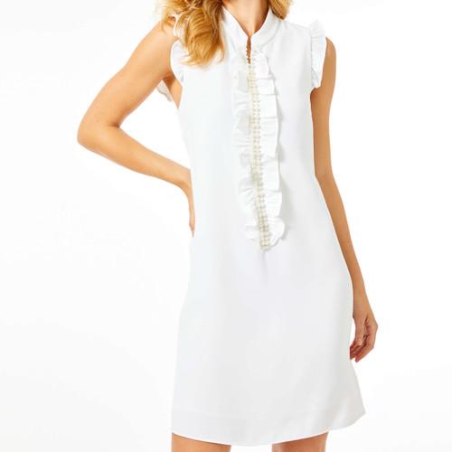Adele Shift Dress Resort White