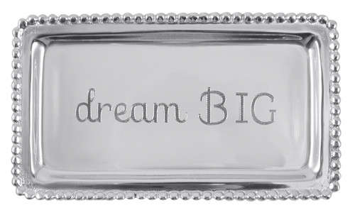 DREAM BIG Beaded Statement Tray-3905DB