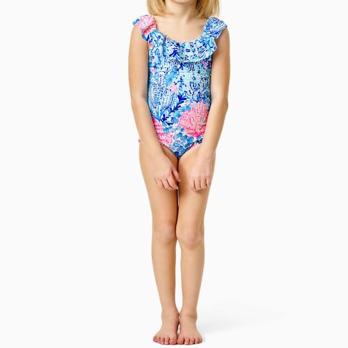 Eliana UPF 50+ Swimsuit Resort White Sway With Me Kids