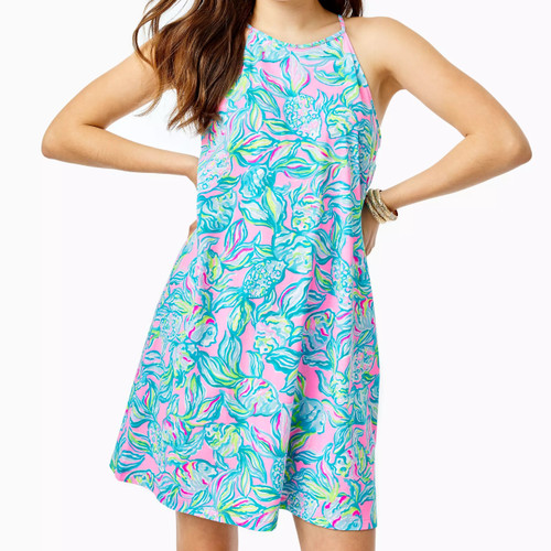 Margot Dress Pelican Pink Off The Scales