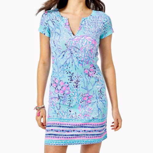 UPF 50+ Sophiletta Dress Blue Ibiza Now You Sea Me Engineered Dress