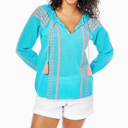 Lara Top Bermuda Blue