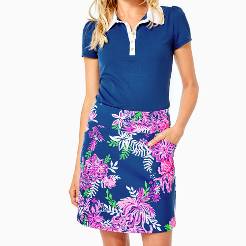 Monica Skort UPF 50+ Oyster Bay Navy Ruffle Your Feathers Golf