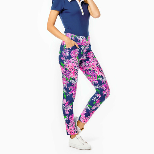Corso Pant UPF 50+ Oyster Bay Navy Ruffle Your Feathers Golf