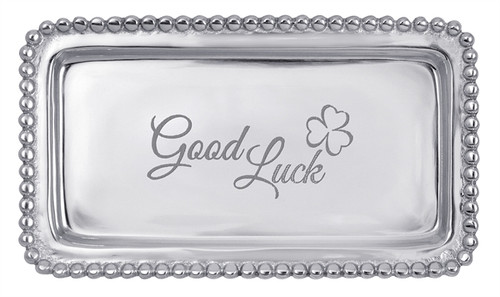 GOOD LUCK Beaded Statement Tray-3905GL