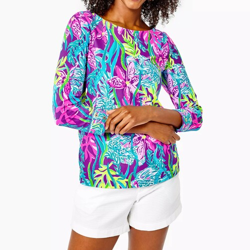 Everlynn UPF 50+ Top Purple Pigment Party All The Tide Engineered Chilly Lilly