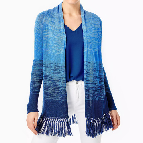 Tatum Ombre Cardigan Blue Thistle Marled Ombre