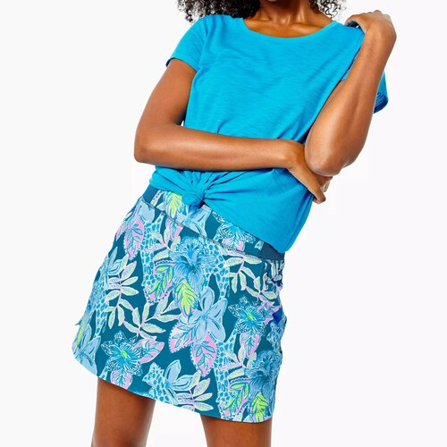 Run Around Skort UPF 50+ Macaw Blue Tall Me About It