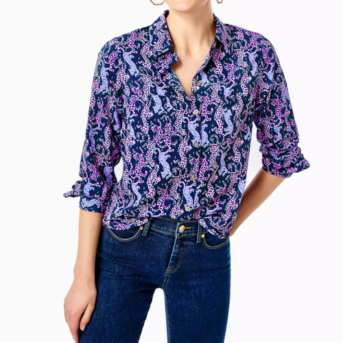 Sea View Button Down Oyster Bay Navy On The Catwalk