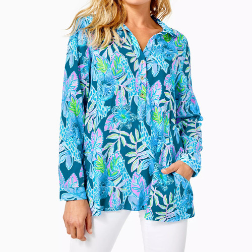 Lillith Tunic Macaw Blue Tall Me About It