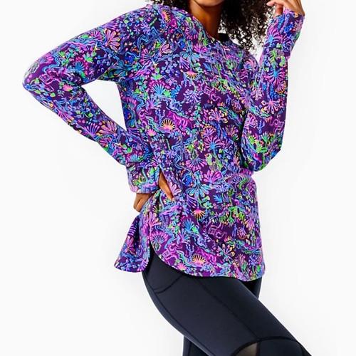 Blythe Pullover UPF 50+ Purple Berry Colony Conga