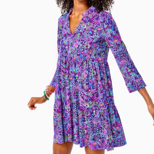 Alaina Dress Purple Berry Colony Conga