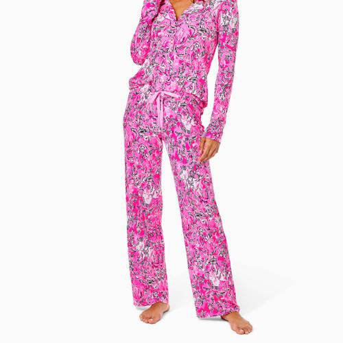 PJ Knit Pant Plumeria Pink Purrposefully Pink