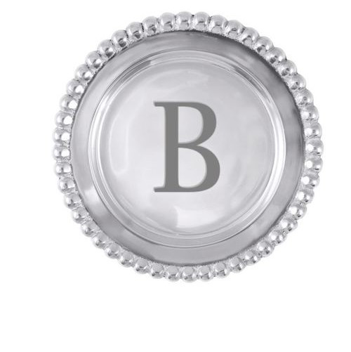 Beaded Initial Wine Plate