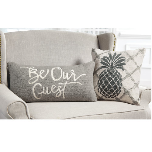 BE OUR GUEST HOOKED PILLOWS 4163005